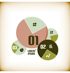 Round chart infographic template vector image