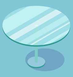 Round glass coffee table furniture image vector