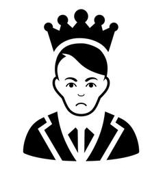 Sad prince black icon vector