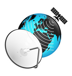 satellite dish tv signal vector image