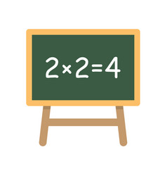 school board with simple equation vector image