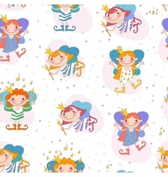 Seamless background girls vector image
