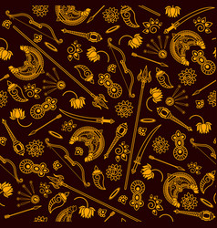 Seamless pattern durga indian vector