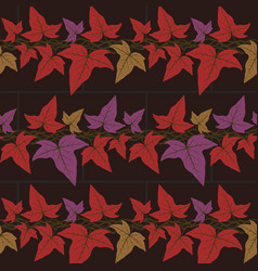 Seamless pattern with the ivy leaves vector