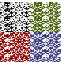 Set of abstract colored seamless patterns vector