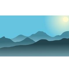 Silhouette of desert at sunrise vector