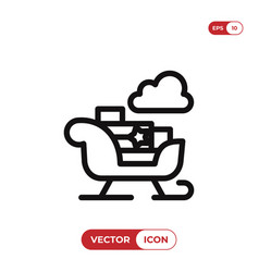 sled icon vector image