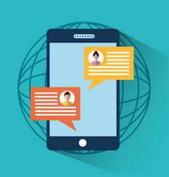 smartphone message sms chat internet digital vector image