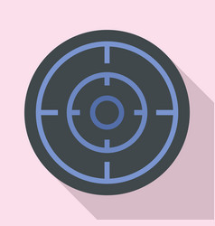 sniper scope icon flat style vector image