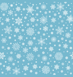 Snowflakes seamless pattern winter snow flake vector