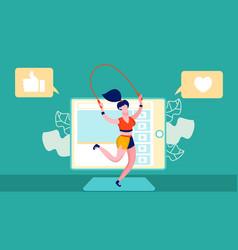 sport motivation channel blog vector image