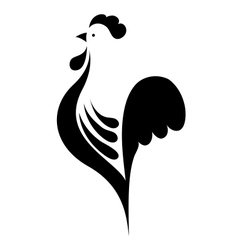 stylized cock vector image
