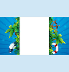 summer banner template design with a white large vector image