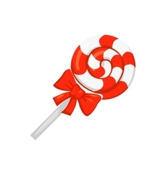 Sweet candy round caramel lollipop vector image