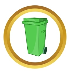 Trash can on wheels icon vector