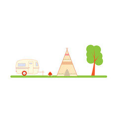 Travel ecological recreation in nature vector