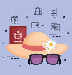Vacations travel relax enjoy tourism destination vector