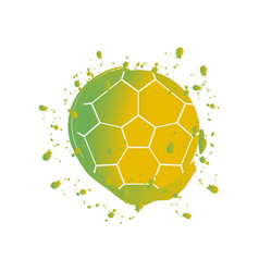 watercolor effect of a soccer ball vector image