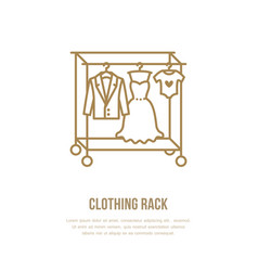 Wedding dress men suit kids clothes on hanger vector