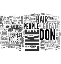 When bad hair happens to good people text word vector