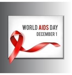 World Aids Day concept vector