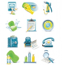 ar wash service icon set vector image vector image