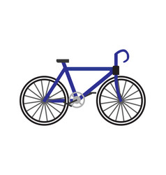 Bicycle icon in flat vector