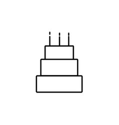 big cake with candles icon vector image