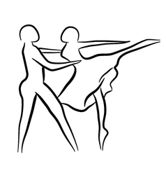 Couple dancing sketch concept vector image vector image