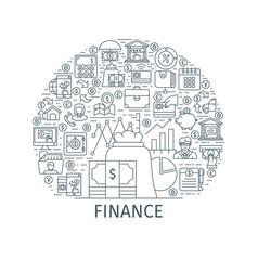 Finance thin line concept vector
