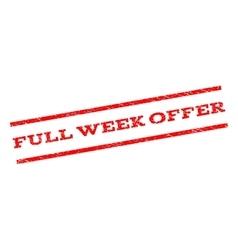 Full Week Offer Watermark Stamp vector image vector image