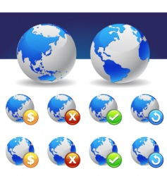 global vector image vector image