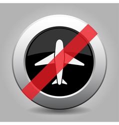 Grey chrome button - no airplane vector