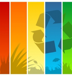 recycle background vector image vector image