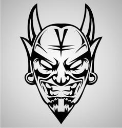 Tribal devil head vector