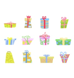 cartoon gifts box vector image
