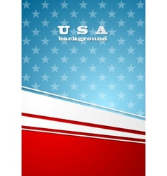 Corporate bright abstract background USA colors vector image vector image