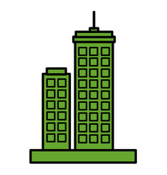 green city buildings icon vector image vector image