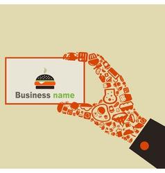 Hand food3 vector image vector image