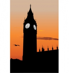 the big ben vector image vector image