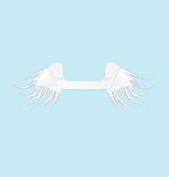 line art of angel wings and tape vintage for st vector image