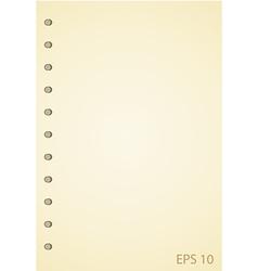 Old Grunge Notebook vector image