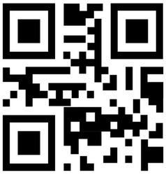 qr code for smart phone vector image vector image