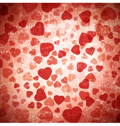 red heart grunge background vector image vector image