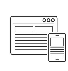 responsive design line icon vector image vector image