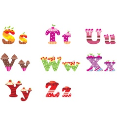 sweet letters of the alphabet vector image