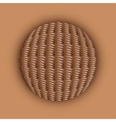 Weaved ball vector image