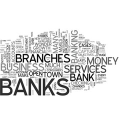 when banks explode text word cloud concept vector image vector image