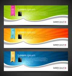 Banner design tablet vector image vector image