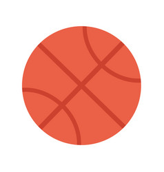basketball ball sports equipment vector image vector image